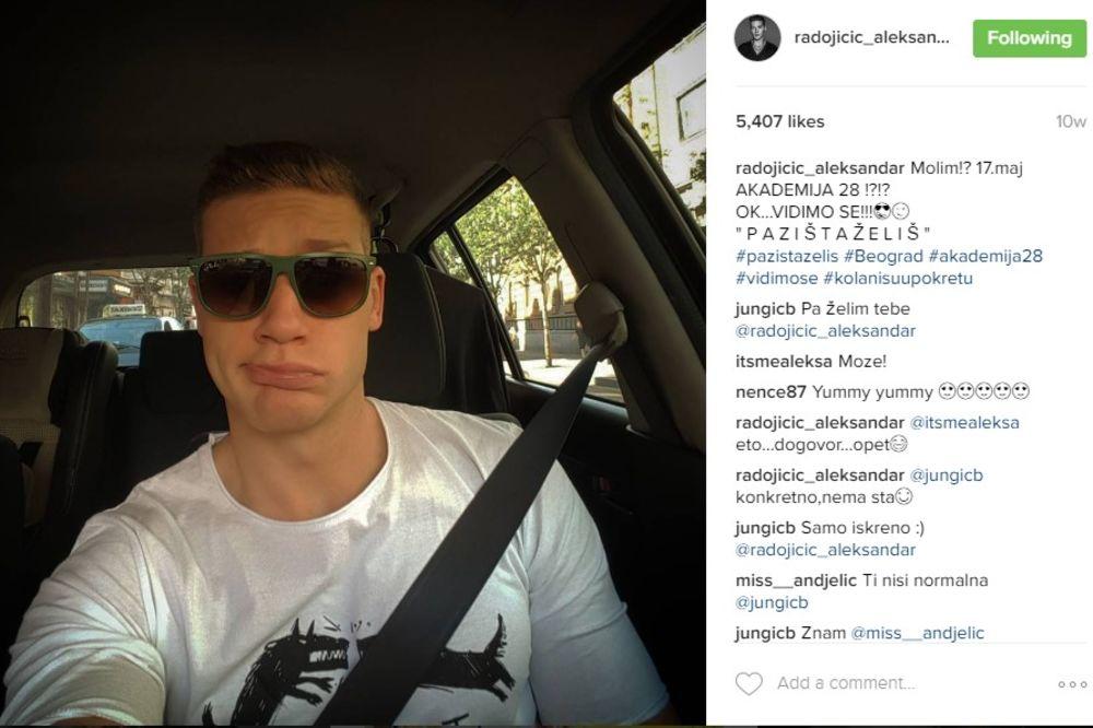 (FOTO) SELFI IZ SPAVAĆE SOBE: Koja to plavuša leži pored Aleksandra Radojčića?