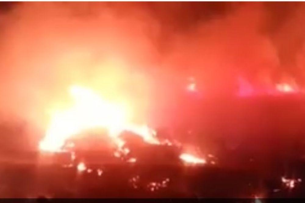 TURSKA NA NOGAMA: Izbio veliki požar kod NATO baze u Izmiru!