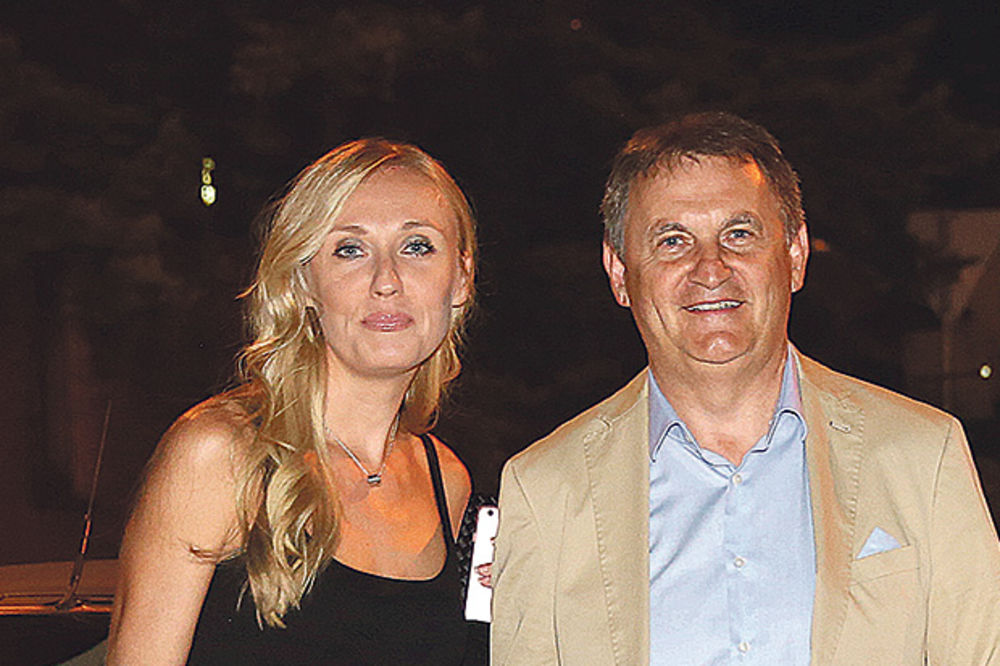 Toplica Spasojević sa suprugom