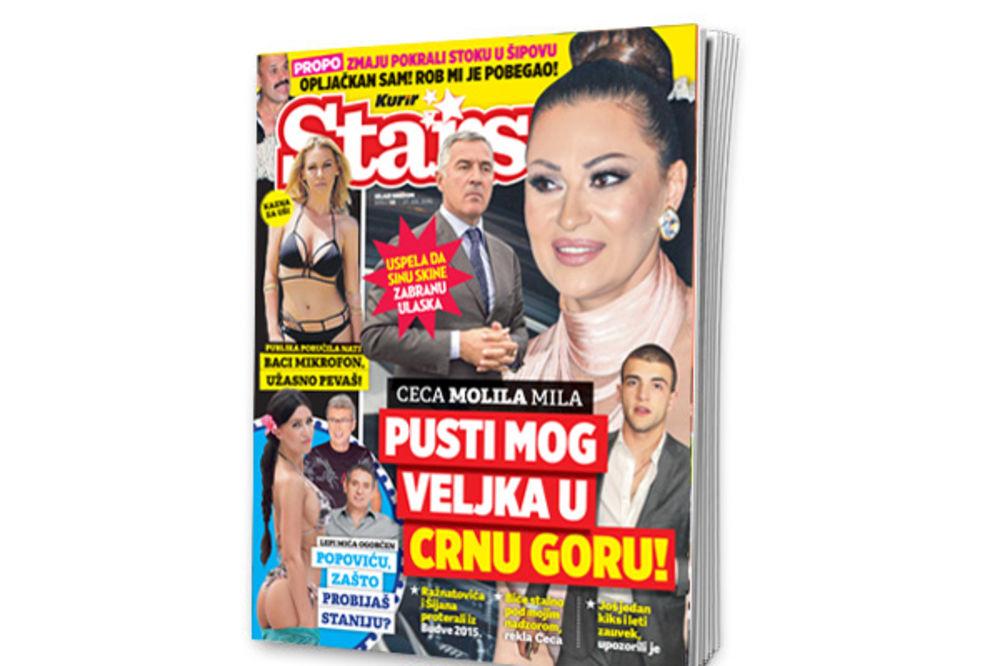 MAGAZIN STARS SAZNAJE: Ceca molila Mila da Veljku dozvole ulazak u Crnu Goru