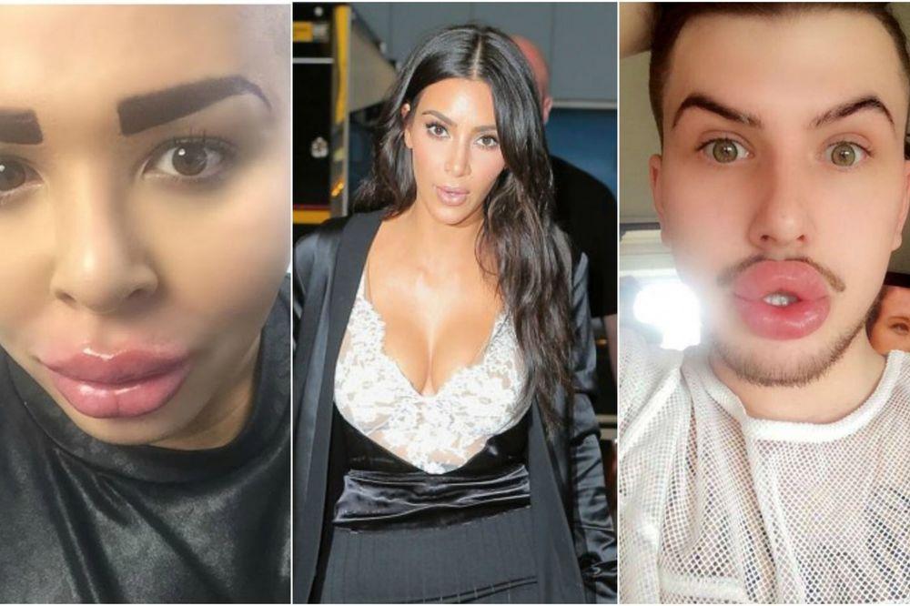 (FOTO) BOŽE TI SAČUVAJ: Ovo su momci koji su potrošili bogatstvo da bi ličili na Kim Kardašijan!