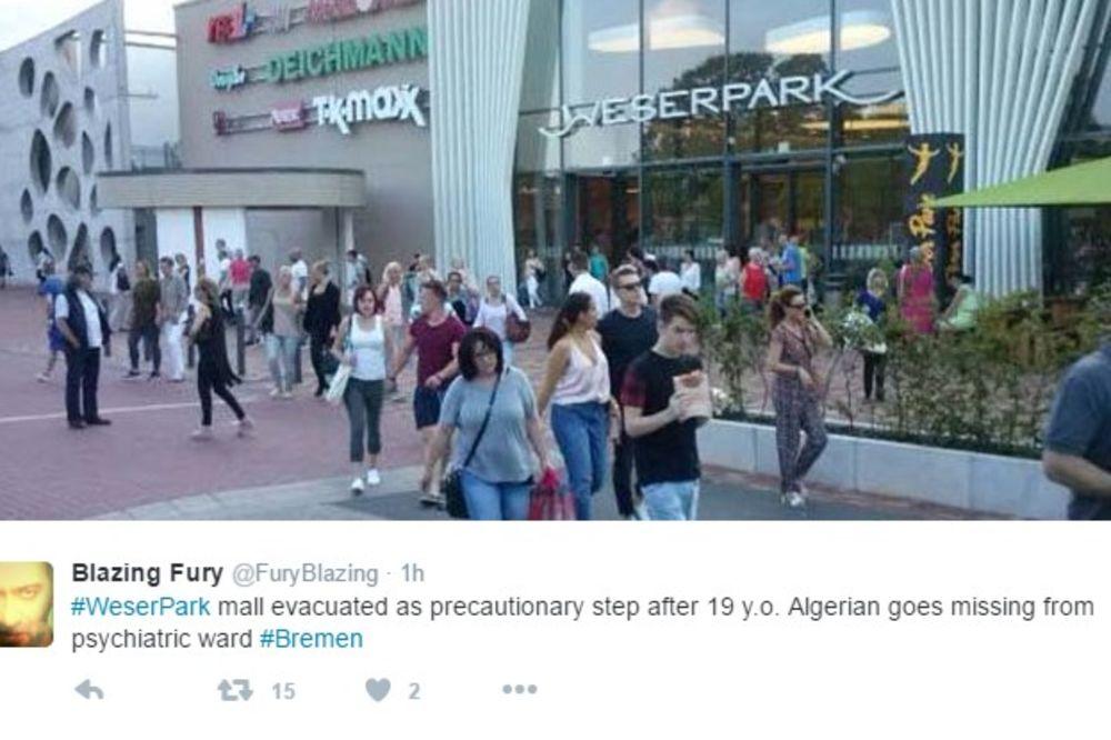 POBEGAO LUDAK POVEZAN SA DŽIHADISTIMA: Evakuisan tržni centar u Bremenu zbog potrage