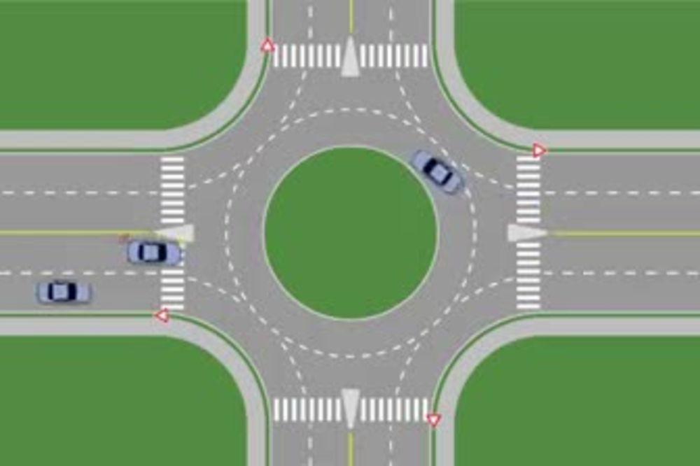 (VIDEO) FENOMENALNO Odličan prikaz haosa koji nastaje kad vozači pogreše u kružnom toku!