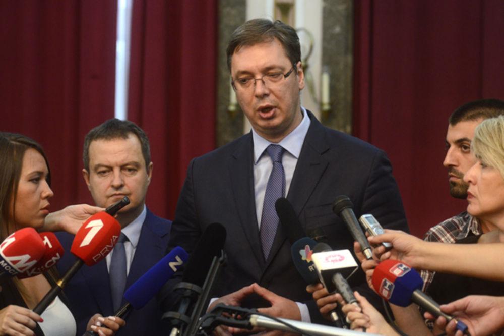 Vučić:Danas nisam imao vremena da mislim ko će biti ministar