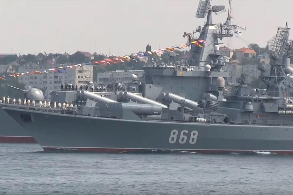 (VIDEO) SVA MOĆ RUSKE CRNOMORSKE FLOTE: Pogledajte ponos Putinove ratne mornarice!