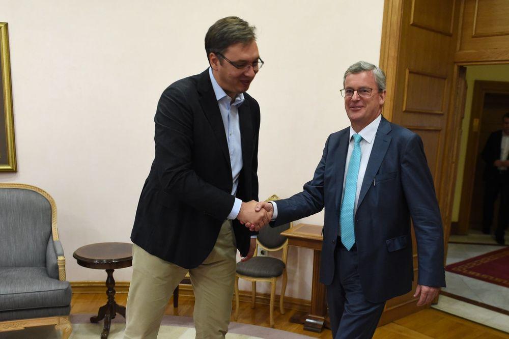 SUSRET VUČIĆA I AJGNERA: Premijer zahvalio na podršci Austrije Srbiji!