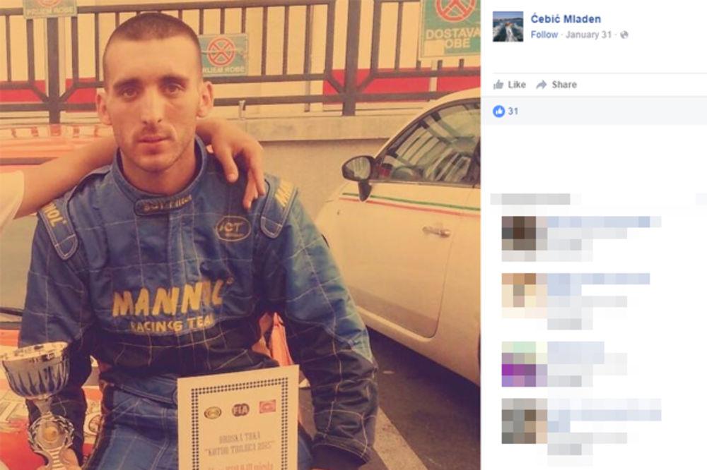 NESTAO RELI VOZAČ: Mladen Ćebić (27) poslednji put viđen u Sutomoru