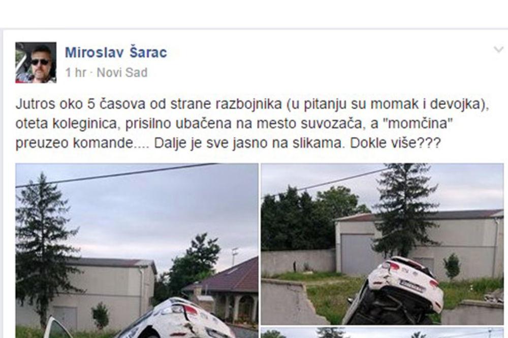 UHAPŠENI NOVOSADSKI BONI I KLAJD: Oteli taksi i pretukli ženu!