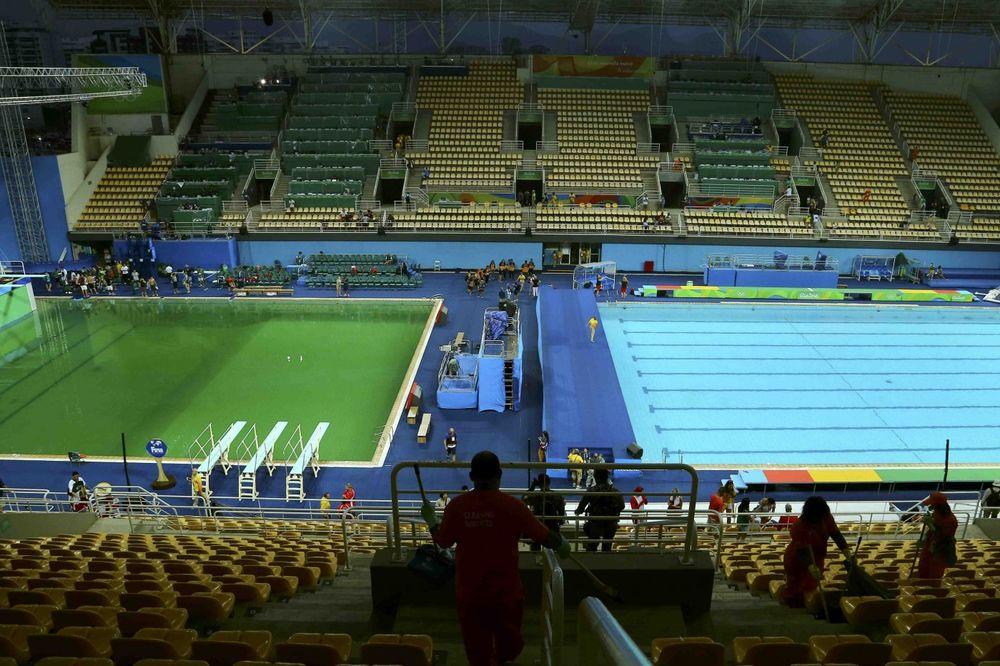 Rio 2016, zeleni bazen, foto: Reuters