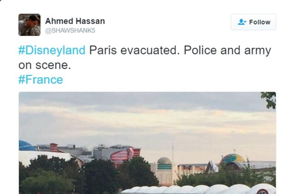 EVAKUISAN ZABAVNI PARK U PARIZU: U Diznilendu našli sumnjivi paket