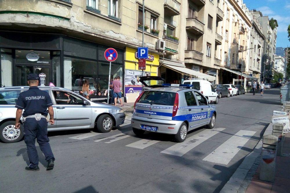 (FOTO) ČITAOCI KURIRA JAVLJAJU: Kosovska ulica u centru Beograda zatvorena za saobraćaj!