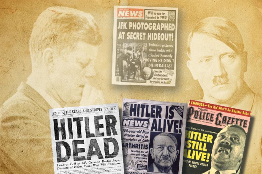 NAJPOPULARNIJE TEORIJE ZAVERE: Hitler i Kenedi lažirali smrt, pa vladali iz senke!