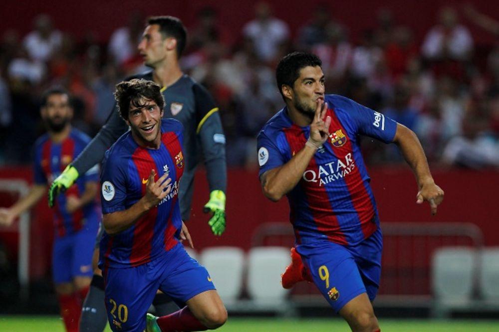 (VIDEO) ŠAMPION REŠIO SVE ZA 90 MINUTA: Barsa pobedila Sevilju u prvom meču Superkupa Španije