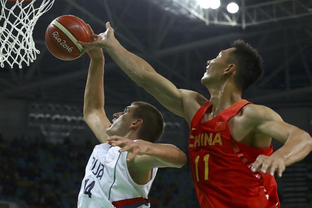 (FOTO) ORLOVI NA PLUS 34: Srpski košarkaši rasturili Kinu i overili plasman u četvrtfinale OI