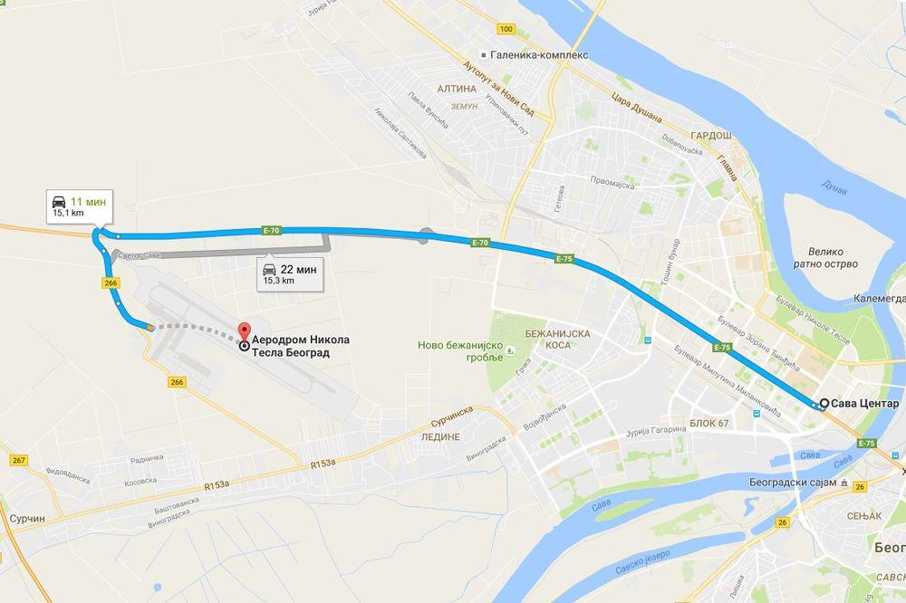 Mapa Nek Se Spremi Novi Beograd Stize Bajden Stize I Blokada
