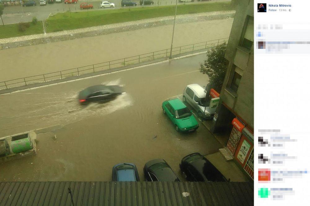 (FOTO, VIDEO) POTOP U UŽICU I POŽEGI: Snažno nevreme pogodilo zapadnu Srbiju, voda ulazila u kuće!