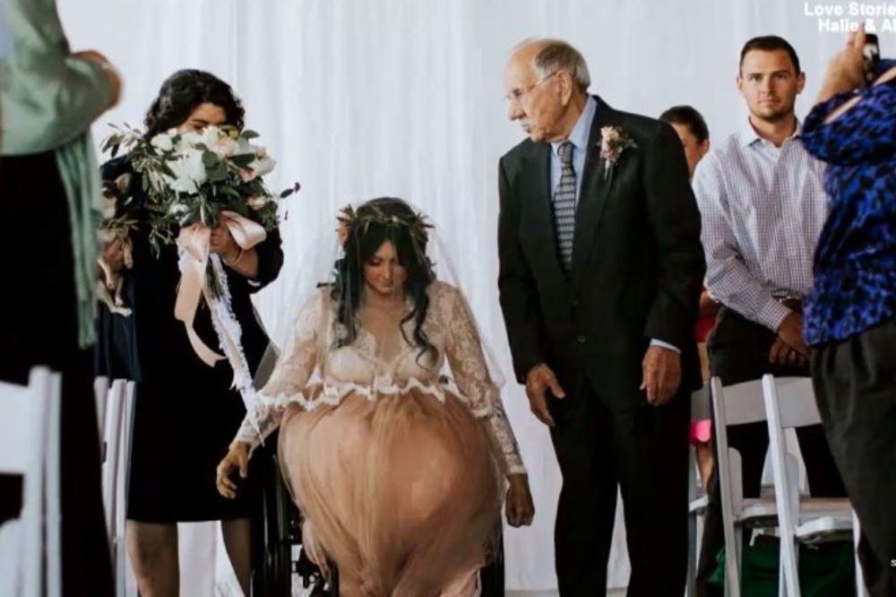 (FOTO) OVA MLADA BILA JE PARALIZOVANA 8 GODINA Deda je doveo do oltara a onda se dogodilo pravo čudo