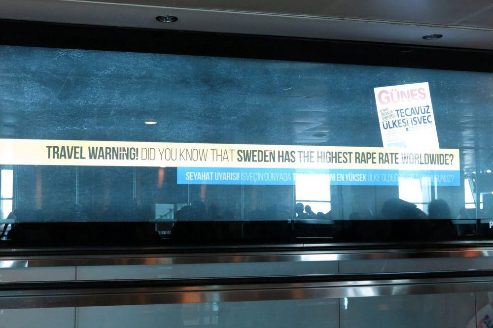 TURCI SE SVETE: Ne idite u Švedsku, tamo ima najviše silovatelja!