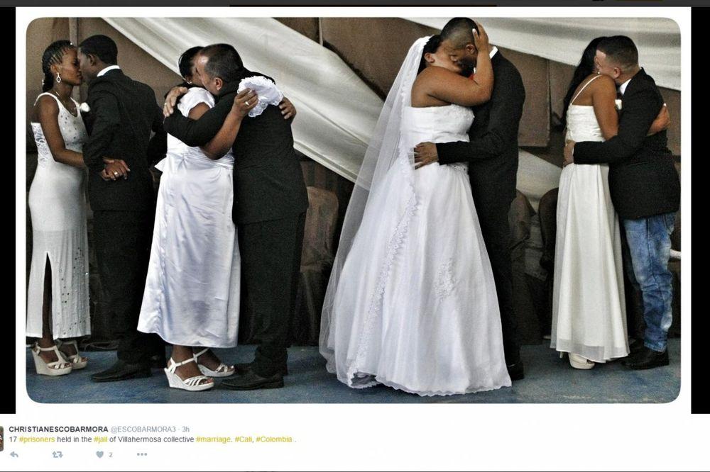 SUDBONOSNO DA IZA REŠETAKA: U Kolumbiji organizovali kolektivno venčanje u zatvoru