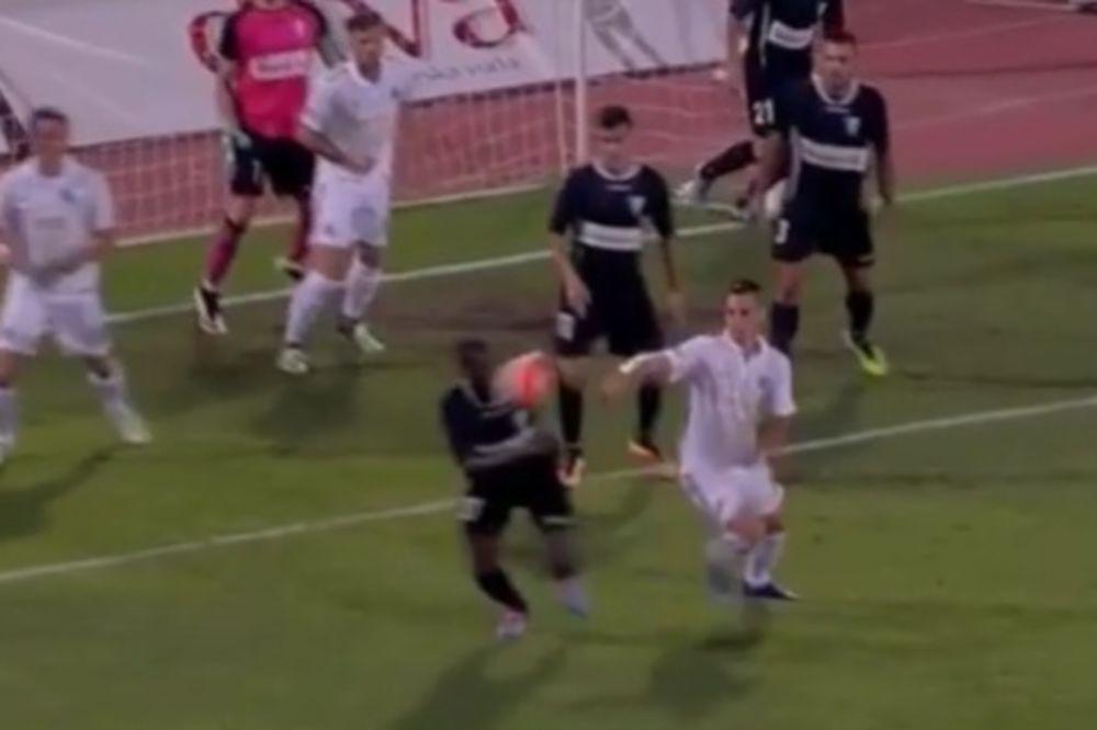 (VIDEO) MAŽIĆ NIJE SVIRAO PENAL: Da li je Partizan oštećen za udarac sa bele tačke?