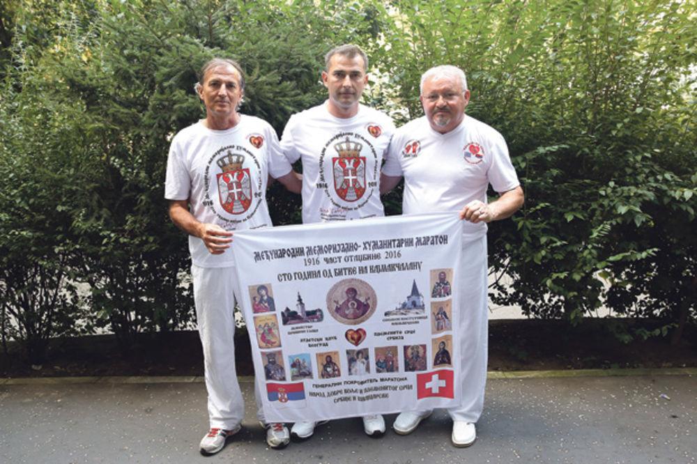 SVAKA ČAST: Trče 1.000 kilometara u slavu srpskih junaka