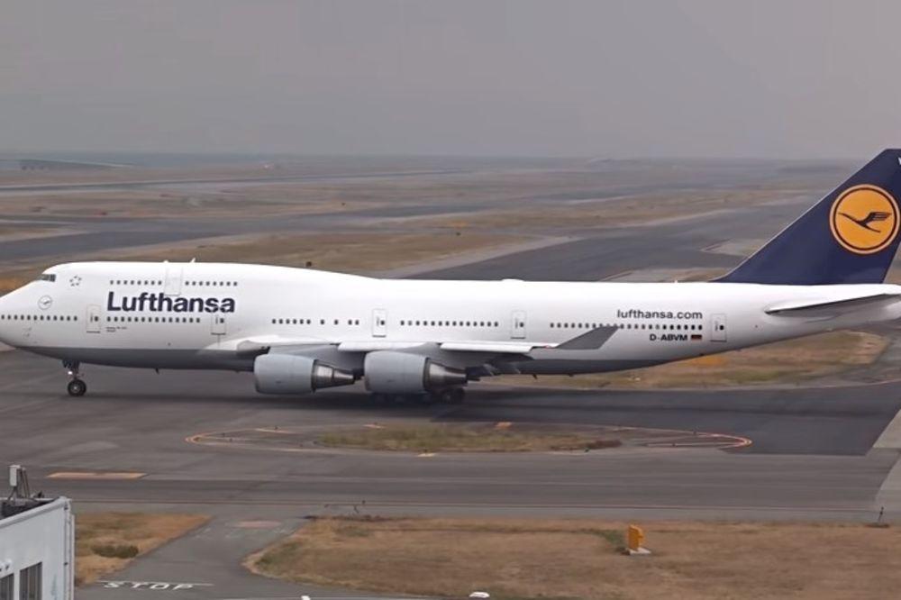 UZBUNA U VAZDUHU: Lufthanzin avion koji je leteo za SAD hitno vraćen u Frankfurt