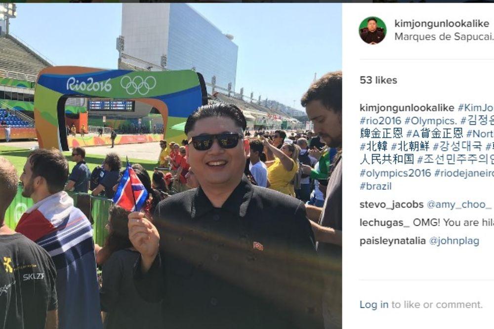 KIM DŽONG UN NA OLIMPIJADI: Sverenokorejski vođa u Riju obilazio znamenitosti i pratio takmičenja