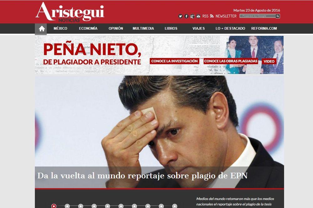 MEKSIČKI MEDIJI RAZOTKRILI PREDSEDNIKA: Nijeta prepisao diplomski rad!