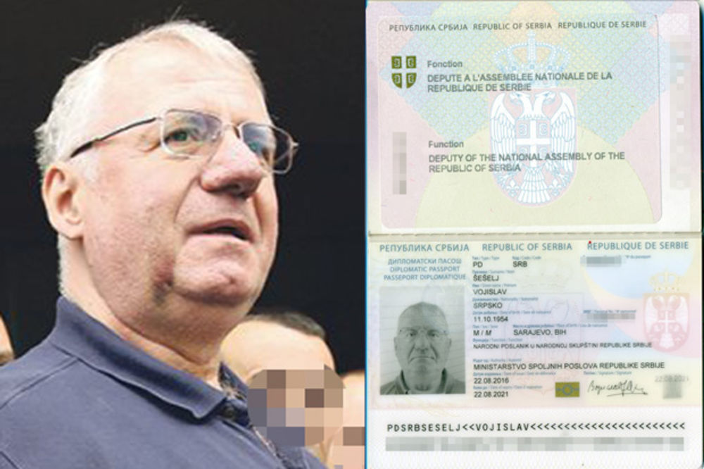 KOLINDA, PAZI SE: Šešelj dobio diplomatski pasoš, sad može kud hoće!