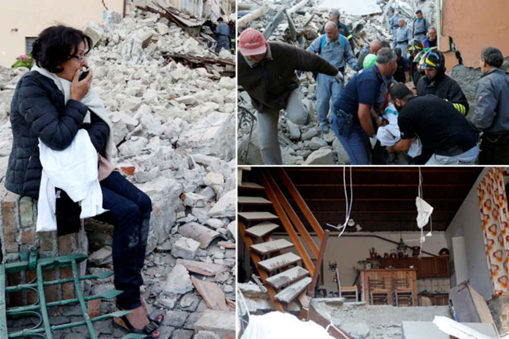 (UZNEMIRUJUĆE FOTO) SLIKE UŽASA IZ ITALIJE: Svuda ruševine i mrtvi, ljudi izg...