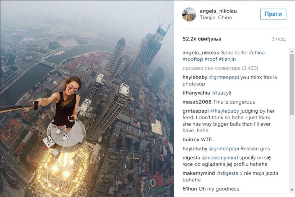 NEUSTRAŠIVA RUSKINJA: Putuje svetom i fotka selfije na najopasnijim mestima! Neka su zaista jeziva!