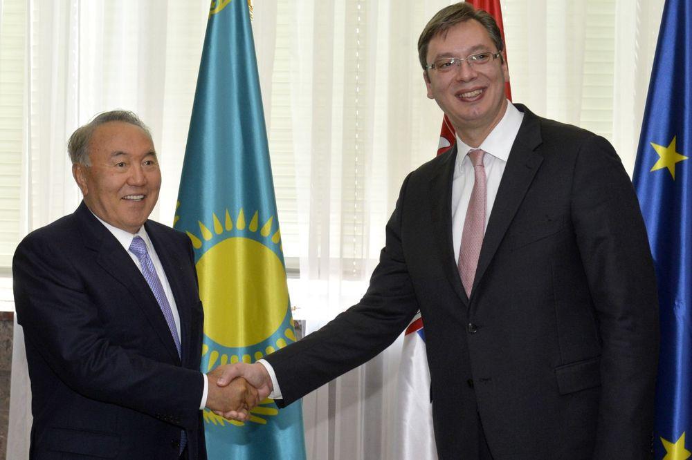 NAZARBAJEV ISKRENO SA VUČIĆEM: Srpske kompanije moći će da osvoje Aziju!