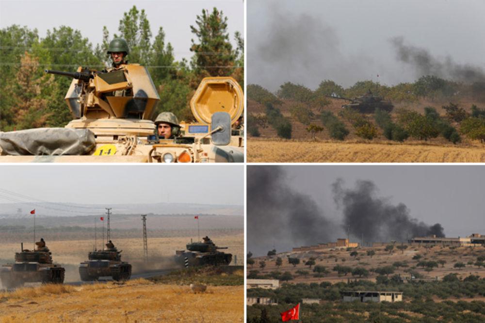 (VIDEO) TURCI RATUJU NA SEVERU SIRIJE: Još jedna turska tenkovska jedinica prešla granicu
