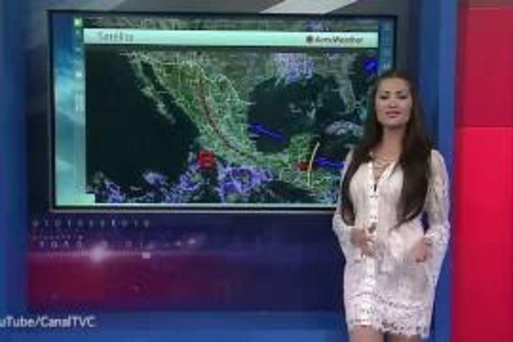 (VIDEO) NA NACIONALNOJ TELEVIZIJI: Voditeljka pokazala bradavice umesto vremenske prognoze!