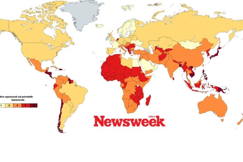 (MAPA) Spremni na iznenađenja: Evo kojim zemljama najviše prete prirodne katastrofe