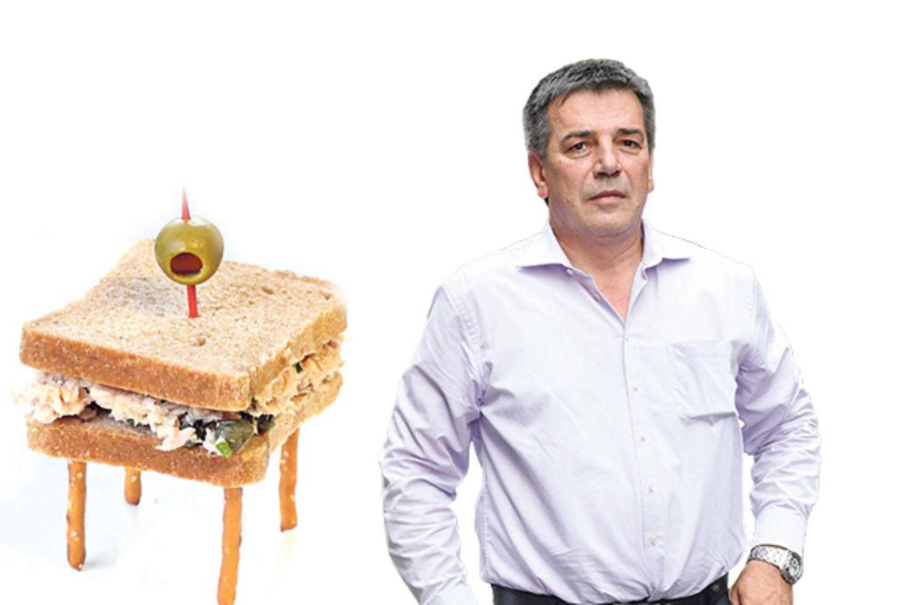HIT: Opštinar naručio sto u obliku sendviča!