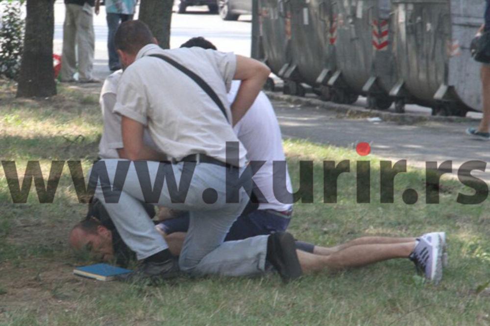 KURIR TV NA LICU MESTA: Pogledajte kako policija hapsi osumnjičenog iz solitera u Bloku 45! (VIDEO)