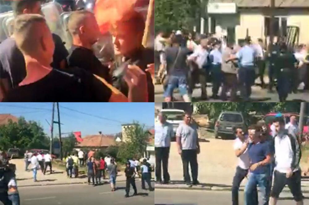 FOTO PRIČA KRVAVA VELIKA GOSPOJINA NA KOSOVU Policija razbija Albanace koji hoće da napadnu Srbe!