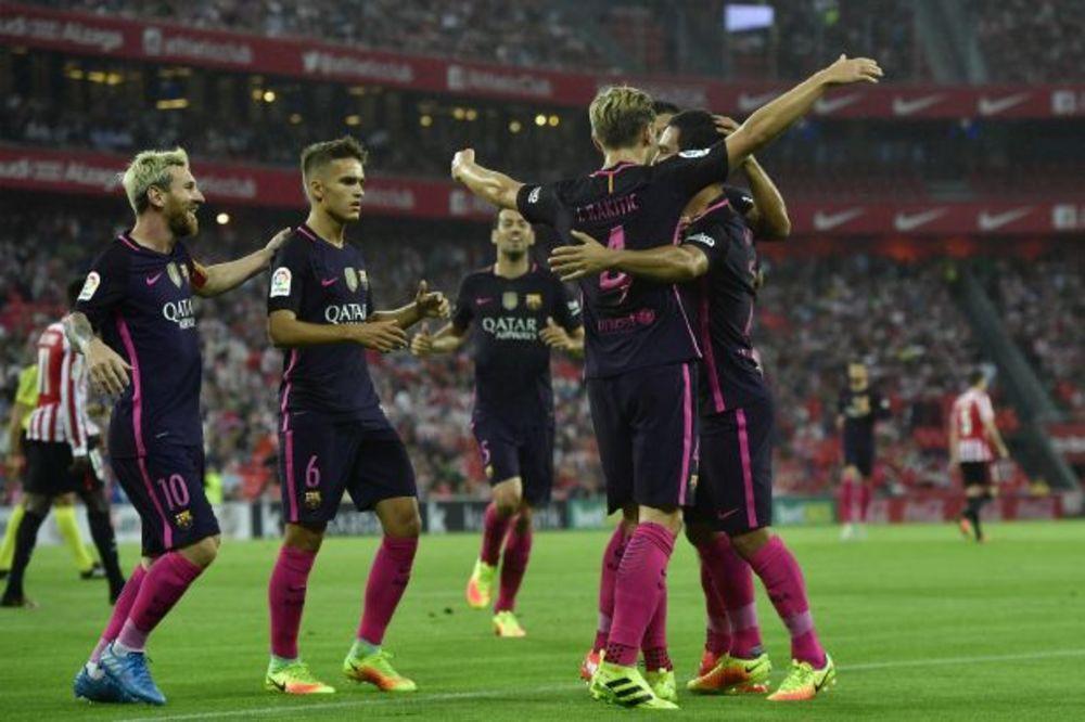 (VIDEO) POBEDA KATALONACA NA MESIJEVOM JUBILEJU: Rakitić doneo trijumf Barseloni u Bilbauu