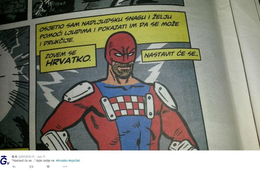 (FOTO) HIT U HRVATSKOJ: Svi bruje o superheroju Hrvatku