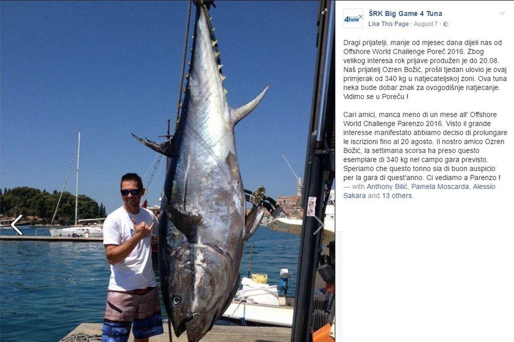 ULOVILI GRDOSIJU: U hrvatskom delu Jadrana uhvaćena najveća riba ikada