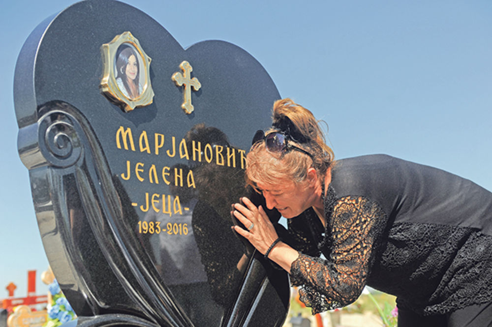 PODIGNUT SPOMENIK JELENI MARJANOVIĆ: Jeco, zar na groblju da ti slavimo rođendan