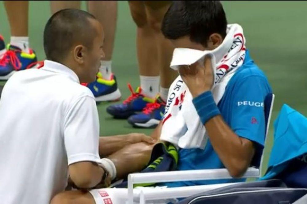 Novak Đoković, US Open, Foto: Printskrin