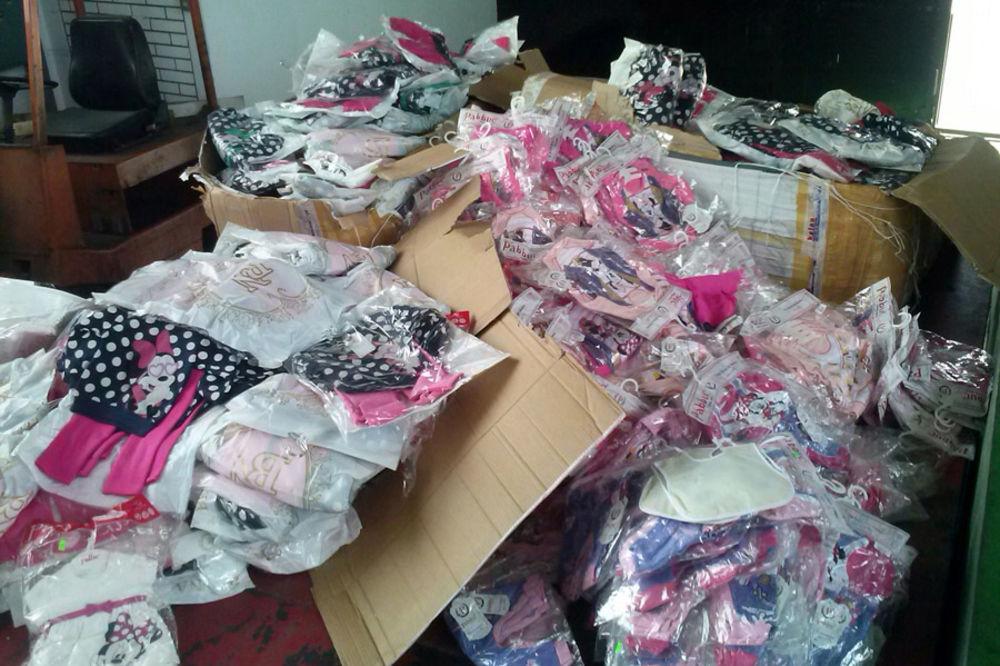 ZAPLENA NA GRADINI: Otkrivena falsifikovana dečja garderoba vredna 10.000 evra