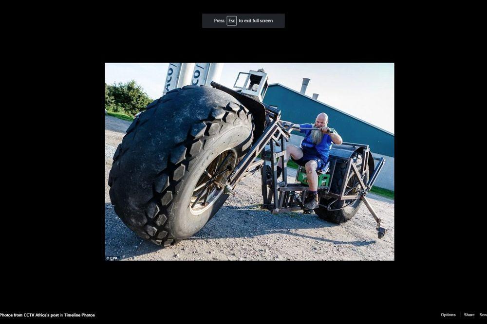 (FOTO) NAJVEĆI BICIKL NA SVETU: Ovom zverskom napravom Nemac juri svetski rekord