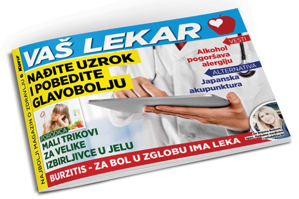 DANAS UZ KURIR: Pobedite glavobolju i bol u zglobovima!