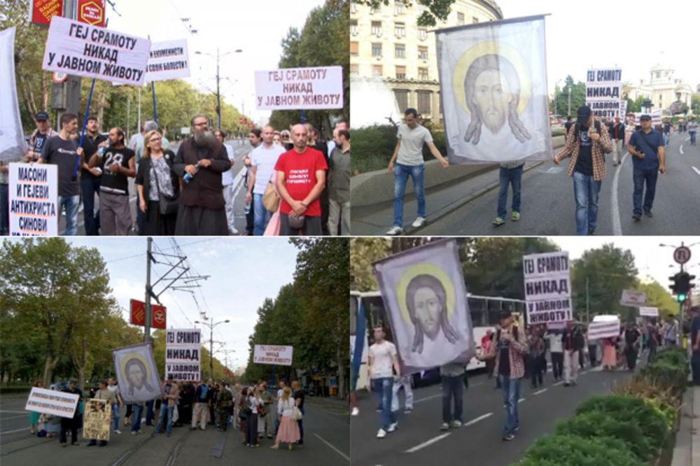 BRUKA SRBIJE: Samo Kurir uživo prenosio šetnju vernika protiv gej parade!