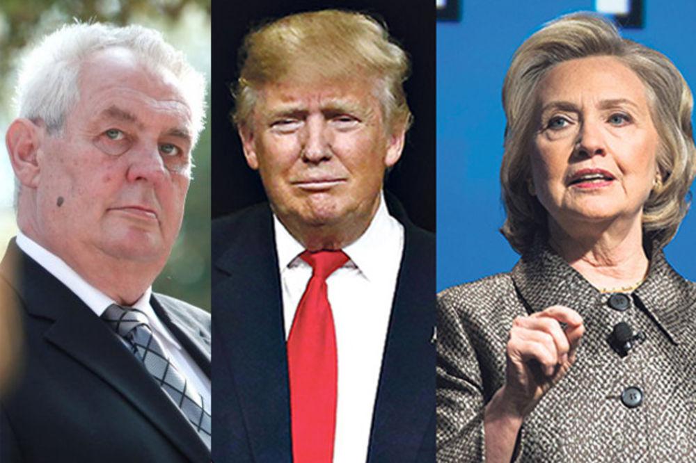 ZEMAN TIPUJE NA POBEDNIKA: Birao bih Trampa, Hilari bi nastavila da uništava Bliski istok
