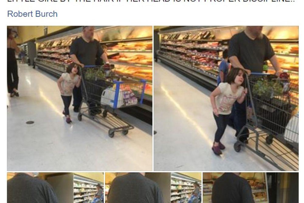 (FOTO) DEVOJČICA PLAKALA I MOLILA GA DA PRESTANE: Užasna scena iz marketa digla planetu na noge!