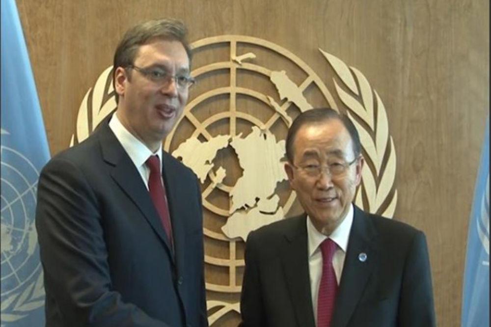 O SITUACIJI U REGIONU I EVROPSKOM PUTU SRBIJE: Vučić razgovarao sa Ban Ki-munom u Njujorku